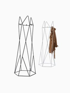Shard Coatstand — Shard from Naughtone is a simple coatstand with a bold, graphic aesthetic. Constructed of bent wire and available powder-coated in a choice of colors, it's both purposeful and beautiful as a decorative addition to a space. Modern Office Decor, Nelson Bubble Lamp, Coat Racks, Desk Light, Work Tools, Herman Miller, Desk Accessories, Outlets, Lamps