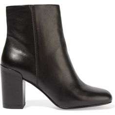Alexander Wang Hana leather ankle boots (£214) ❤ liked on Polyvore featuring shoes, boots, ankle booties, ankle boot, black, high heel booties, black booties, black ankle boots, black boots and black ankle booties