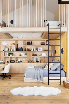 3 Kids Bedroom Ideas We Learned From This Playful L. Home - Adi sevc - 3 Kids Bedroom Ideas We Learned From This Playful L. Home This Little Boy's Bedroom Casually Has a Two-Story Slide - Mezzanine Bedroom, Bedroom Loft, Dream Bedroom, Bedroom Decor, Bedroom Furniture, Fantasy Bedroom, Lego Bedroom, Minecraft Bedroom, Design Furniture