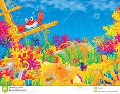 coral fundo do mar desenho - Pesquisa Google