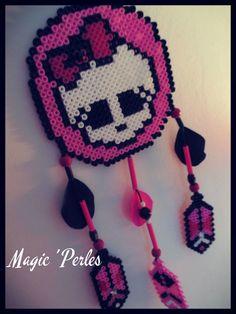 Monster High dreamcatcher hama perler beads - Original design by  Magic-perles