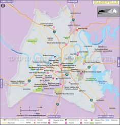 Nashville Print Tennessee Print Nashville Map By AGierDesign - Us map tennessee