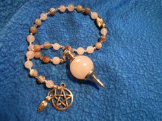 Rose Quartz & Botswana Agate Divination/Healing by Ravenbirch Designs.  $25.