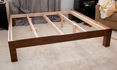 simple king size bed frame - Google Search