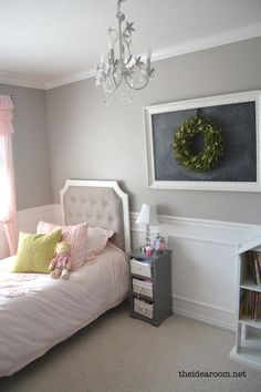 This is the perfect little girls room! So feminine and sweet and still so classy!