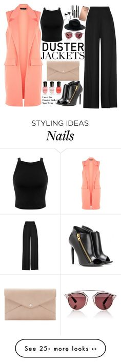 """Duster Jackets Are In!"" by mackenziemarles on Polyvore featuring Martin Grant, Miss Selfridge, Mura, Christian Dior, Monster, Bobbi Brown Cosmetics, Deborah Lippmann, Tom Ford and Danielle Nicole"