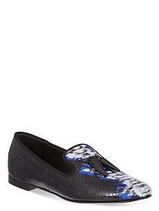 GIUSEPPE ZANOTTI Sierre snake-print slippers