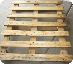 wood pallet for flag