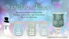 Scentsy Fall and Winter Bundle 2017. Snowflake bundle. www.scentsational99.scentsy.us