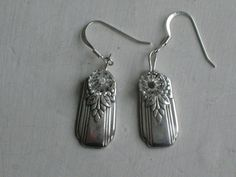 Silverware Earrings from Upcycled Vintage Silverplate Silverware $22 www.laughingfrogstudio.etsy.com