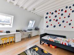 Polka Dot Wall Decals, Vinyl Wall Decor, Geometric Wall Decals, Nursery Wall Stickers, Baby Room Decor, Circle Geometric Vinyls, Gift - Violet / 3 inch