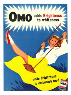 Omo, Washing Powder Products Detergent, UK, 1950 Posters sur AllPosters.fr