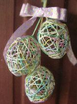 Crochet String Easter Eggs