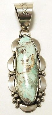 Navajo Dry Creek Turquoise Sterling Silver Pendant ...love!