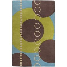 Art of Knot Barbour Hand Tufted Wool Area Rug, 5' x 8', Green