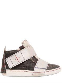 Fire retardant Sneakers by MANIKETTA made out of recycled fire hose - LUISAVIAROMA -  WORLDWIDE SHIPPING