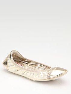 Prada Scrunch Ballet Flat - Want these in Black $295