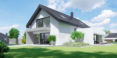 DOM.PL™ - Projekt domu CPT HomeKONCEPT-51 CE - DOM CP1-60 - gotowy koszt budowy Modern Bungalow Exterior, Good House, Concept Home, Modern House Plans, Design Case, Home Fashion, Home Projects, Ideal Home, Facade