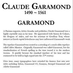 Garamond!