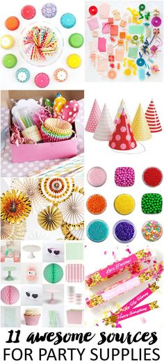 Don't miss these 11 awesome sources for party supplies! Bookmark this post for your next baby shower, dinner party, or any type of shindig! Diy Party, Party Gifts, Party Favors, Party Ideas, Party Shop, Diy Spring, Party Entertainment, Childrens Party, Perfect Party