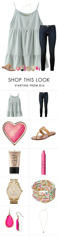 """""""Rtd!! Follow Jules's new account!!"""" by jululily ❤ liked on Polyvore featuring Chicnova Fashion, Frame Denim, Too Faced Cosmetics, Tory Burch, NARS Cosmetics, tarte, Michael Kors, Kate Spade and Kendra Scott"""