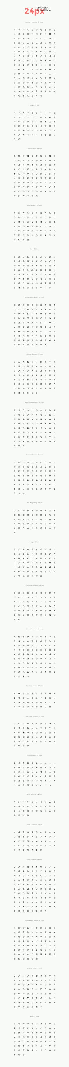 Simple Line Icons Pro by GraphicBurger on Creative Market