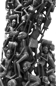 Makonde carving uses African ebony and draws inspirations from Tanzanian tribal myths and stories. It features of a modern response to contemporary life.