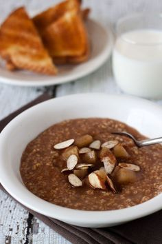 Pressure Cooker Cinnamon Apple Steel Cut Oats - cook better tasting steel cooked oats faster in the pressure cooker.