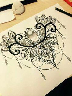 Ideas tattoo for women on back of neck tatoo X Tattoo, Tattoo Son, Sternum Tattoo, Lace Tattoo, Cover Tattoo, Mandala Tattoo, Piercing Tattoo, Body Art Tattoos, Girl Tattoos