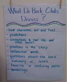 My literacy blocks are beginning their first book clubs. They will be reading and discussing books in a series. They were supposed to do th...