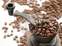Coffee Beans & grinder.