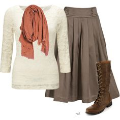 A fashion look from September 2015 featuring John Lewis tops, H&M skirts and A Peace Treaty scarves. Browse and shop related looks.