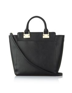 Tall Work Tote from THELIMITED.com #TheLimited #Accessorize #handbag #black #Chic #classic #FauxLeather #LTDAtWork #Sophisticated #Professional #OwnIt