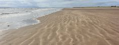 55 empty beach to Troon, Ruth hiking the Ayrshire Coastal Path
