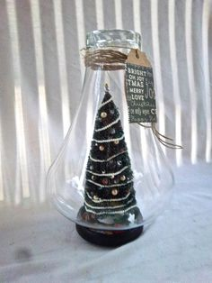 Handmade Everlasting Christmas Tree Cloche by southerntouches
