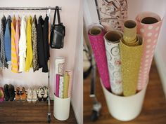 great way to store/show wrapping paper!