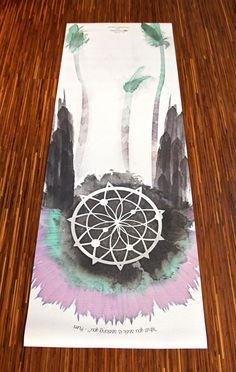 warrior yoga mat // @La Vie Boheme Yoga #planetblue