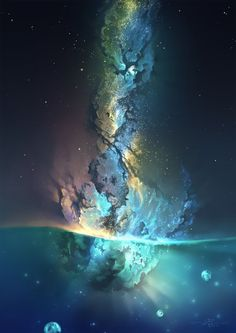 Galaxy Art Painting Life 50 Ideas For 2019 Fantasy Landscape, Fantasy Art, Universe Love, Design Digital, Between Two Worlds, Galaxy Art, Photo Instagram, Galaxy Wallpaper, Outer Space