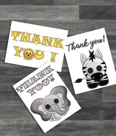 50 Cards with Envelopes for Baby Boy or Baby Girl Hallmark Baby Shower Thank You Cards Assortment Owl Fox Deer Woodland Animals Bear