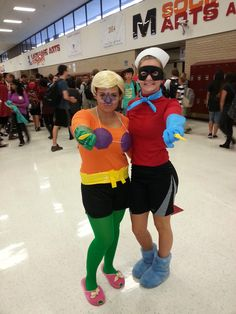 [Photographer] mermaid man and barnacle boy at my school today - Imgur