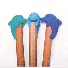 Pencil Top Eraser Set - Dolphin