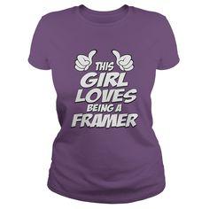 Being A Framer T-Shirts, Hoodies. SHOPPING NOW ==► https://www.sunfrog.com/Jobs/Being-A-Framer-Shirt-Purple-Ladies.html?id=41382