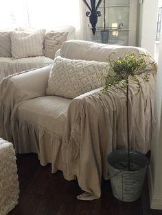 Shabby Chic Furniture Slipcovers | Shabby Chic Sofa Slipcover,throw On  Wanelo | Shabby Chic | Pinterest | Shabby Chic Sofa, Furniture Slipcovers  And Sofa ...