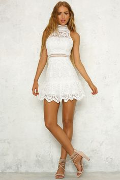 Pick Up The Pieces Dress White USD$72.00