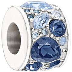 Authentic Chamilia Charm 'Mosaic' Blue Swarovski 2025-0928 *** Want to know more, click on the image. (This is an affiliate link and I receive a commission for the sales)