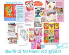 Shape of My Heart Kids Art Project: watercolor and shapes activity for Valentine's Day