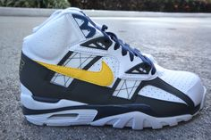more photos 124a5 8db75 Nike Air Trainer SC High - White Tour Yellow Anthracite Midnight-Navy