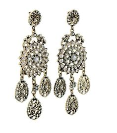 Handmade Hot Sell Brand Drop design Earrings New Vintage fashion Jewelry Flower with mini Pearl accessories Factory Wholesale