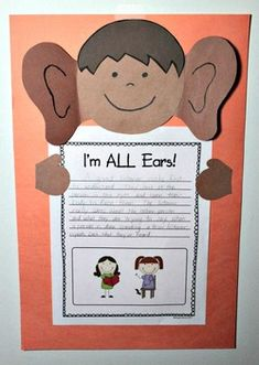 """An Understanding Listener {7 Habits Craftivity #5} -- Goes with the habit """"Seek First to Understand, Then to Be Understood"""" #Leaderinme"""