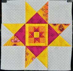 New Leaf Ohio Star by shecanquilt, via Flickr This would look cool as a giant star quilt